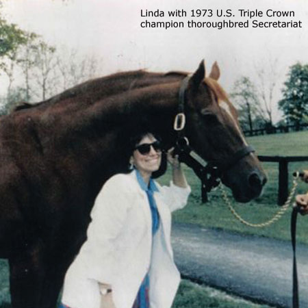 Linda with Secretariat