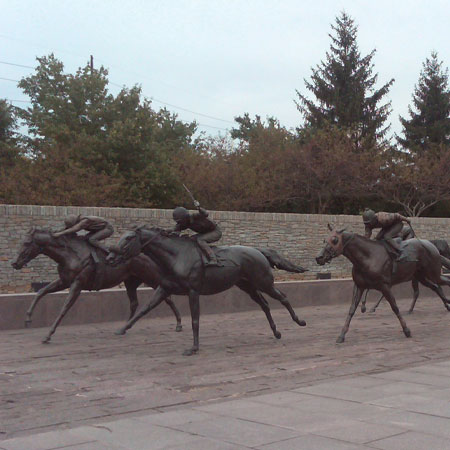 Statues at Thoroughbred Park
